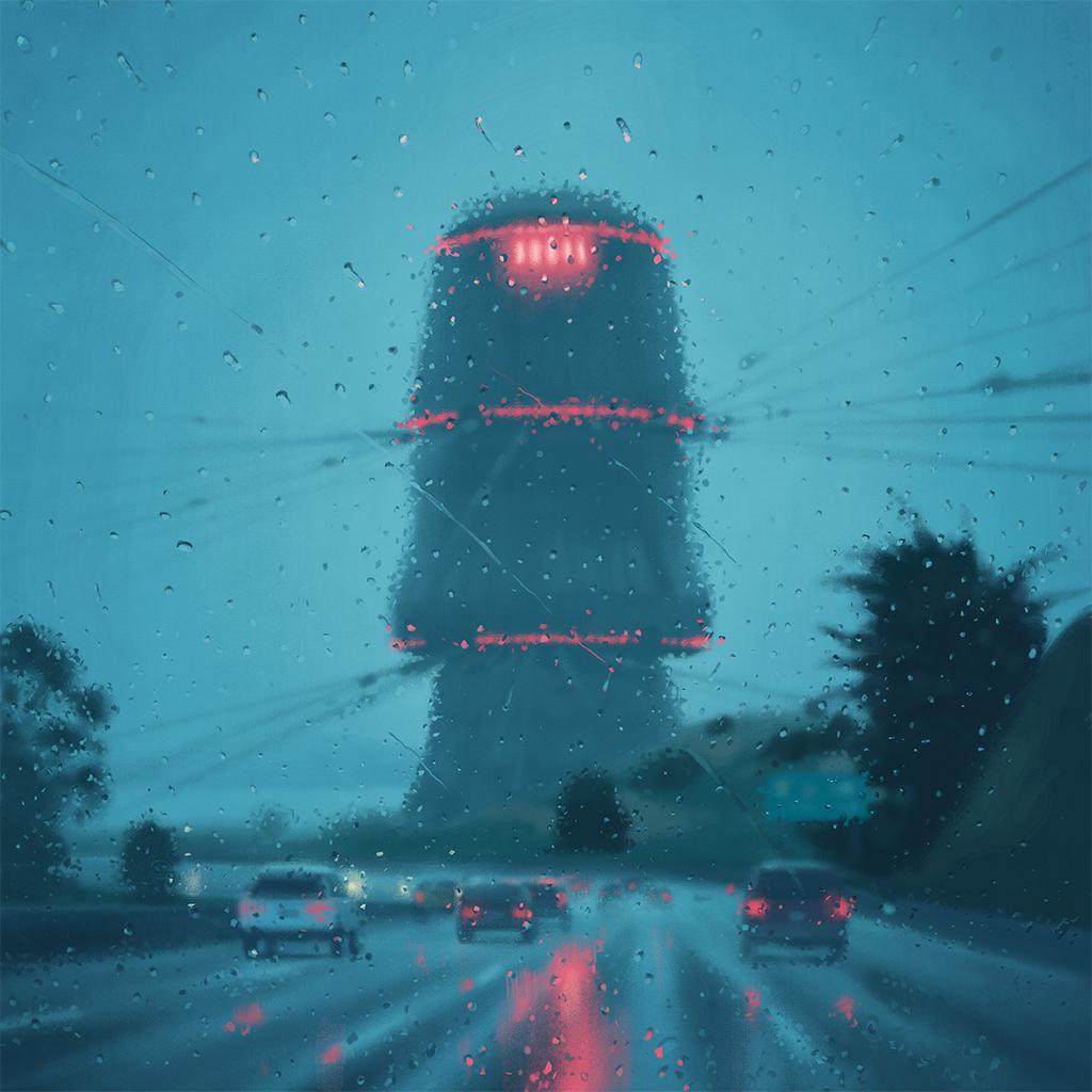 Through a rain-soaked window